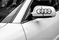 (Joe Papagoda) Tags: white abstract black cars mirror design nikon sticker abstraction dope audi tones s4 d300