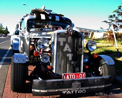 Tattoo hot rod (Seaside-Mike) Tags: truck skulls skull oldstyle fifties pentax australia cruisin hotrod adelaide 50s trick southaustralia cruiser v8 hoodornament semaphore beachside sea2side mikestobaphotography