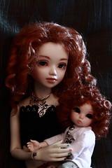 Mre et fille (Bibouzoli) Tags: bjd redhair ante unoa rousses pukifee