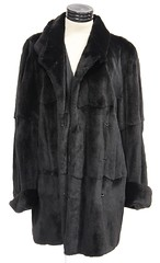 1045. Black Rabbit Fur Coat