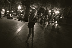 (Che-burashka) Tags: street people girl night candid odessa omd em5 panasonic14mmf25