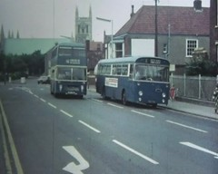 Great Yarmouth (Lady Wulfrun) Tags: lighting blue light red lights video seaside streetlight streetlights cine resort fluorescent norwich 1970s 1980 8mm 1980s greatyarmouth 1979 streetlighting ecw onthebuses bristolvr bristolfs aecswift thornalpahtwo