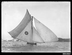 18 footer vessel on Sydney Harbour