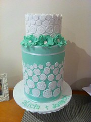 Engagement Cake (Anita.A.) Tags: white flower green cake engagement barrel double anemone extended tier