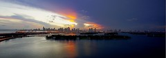Miami Sunset (Midtown Miami Now) Tags: sunset miamibeach downtownmiami miamiskyline miamisunset