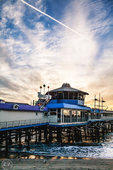 Redondo Beach Pier (EMIV) Tags: ocean sunset beach canon pier los angeles mark ii 5d redondo 35l