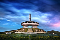 Buzludzha (inhiu) Tags: buzludzha bulgaria shipka ufo cloud night long exposure inhiu landscape kazanluk storms strobe light painting communism derelict abandoned ruined monument communist heritage decay destroyed memory concrete lightpainting buzludja forgetyourpast epic moved romantic surreal unreal dream dramatic