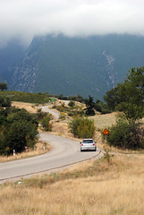 "The Road to "" "" (Mansour Tasos) Tags: road two mist mountains tree landscape 206 greece gti peugeot lamia"