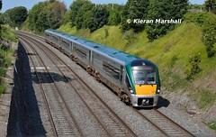 22034 at The Gullet, 19/7/16 (hurricanemk1c) Tags: dublin irish train rail railway trains railways irishrail rok rotem 2016 icr iarnrd thegullet 22000 22034 ireann iarnrdireann premierclass 5pce 0715westportheuston