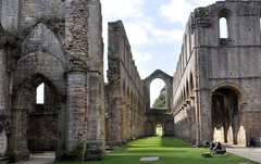 Room with a View (Maria .... still trying to find my way!) Tags: abbey fountainsabbey stone arches