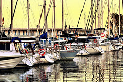 A sunset walk to take photos (Fnikos) Tags: port architecture people light photo photos sea water waterfront serene boat skyline vehicle outdoor