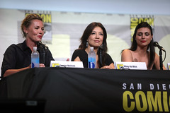 Connie Nielsen, Ming-Na Wen & Morena Baccarin (Gage Skidmore) Tags: connie nielsen ming na wen morena baccarin melissa benoist nathalie emmanuel tatiana maslany lucy lawless san diego comic con international california convention center ew entertainment weekly women who kick ass