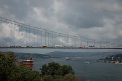 suspend (o altan) Tags: rumelihisari kpr bridge istanbul turkey trkiye bosporus boaz sea urban city traffic oaltan sony rx100m3