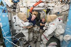Astronauts Kate Rubins and Jeff Williams Prepare For a Spacewalk (NASA's Marshall Space Flight Center) Tags: nasa nasasmarshallspaceflightcenter nasamarshall marshall katerubins jeffwilliams internationalspacestation spacestation space iss science research spacewalk