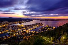 Bergen By Night (Steinskog) Tags: summer sunset bergen norway floyen fløyen citybynight clouds longexposure fujifilm xpro2 landscape city