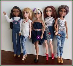 Girls in denim (Livdollcity) Tags: moxie teenz doll dolls jeans mga