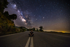 Chilling under the Milky Way (Vagelis Pikoulas) Tags: relax relaxing milky milkyway long exposure stars star space universe galaxy night nightscape landscape porto germeno summer june 2016 tokina 6d canon sky