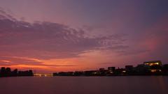 IJburg Sunset (Skylark92) Tags: netherlands nederland holland ijburg amsterdam sunset dusk schemer zonsondergang sky lucht waterkeringpad stijger
