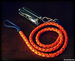 Long paracord lanyard (Stormdrane) Tags: paracord 550cord stormdrane leatherman wave multitool turkshead knot twobight long lead navyblue orange loop lanyardknot swivelclip hobby craft hiking camping backpacking fishing boating sailing scouting bushcraft retention utility useful decorative wareagle auburn belt attachment
