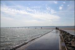 West Kirby Wirral  230816 (15) (over 4 million views thank you) Tags: westkirby wirral lizcallan lizcallanphotography sea seaside beach sand sandy boats water islands people ben bordercollie dog beaches reflections canoes rocks causeway yachts outside landscape seascape