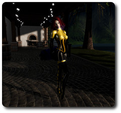 Yellow/black latex outfit (Alexia Mirainkilala) Tags: neko latex kas truth maitreya logo balletboots marinekelly