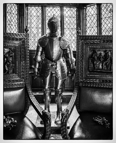 """""""Suit of armour in the Great Hall"""" Speke Hall"""