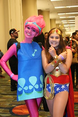 Mother and Daughter Comic Book Cosplay (shaire productions) Tags: picture photo photograph imagery costume cosplay people comicbookcharacters popculture sfcomiccon comiccon sanfranciscoevents family motheranddaughter fun aliens superwoman