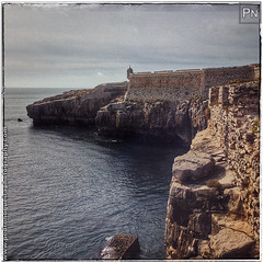 Peniche Fortress - Walls (Pedro Nogueira Photography) Tags: pedronogueira pedronogueiraphotography photography iphoneography iphone5 portugal peniche fort fortress fortification prison jail old stronghold walls seaside sea coast coastline rocks outdoor water serene