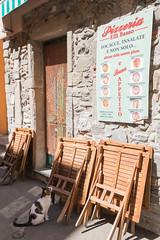 Cinque Terre -Vernazza- 04 (tomomega) Tags: cinqueterre italy laspezia    sea building   worldheritage  cat pizza