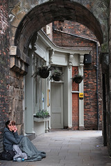 Sleeping Rough... (wivvy is getting there.) Tags: xt1 xf1855mm york monkbar streetphotography homeless lonely archway