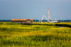 Cape May (Christopher_William) Tags: newjersey new jersey cape may county capemay bay canal grass marsh swamp landscape shack boat fishing ship