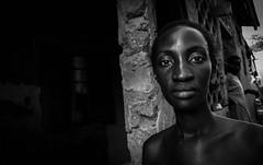 Kampala Revisited (gunnisal) Tags: africa portrait blackandwhite bw woman kampala gunnisal face eyes