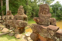 Three Deep (Neil Noland) Tags: cambodia siemreap angkor angkorthom gate ruin