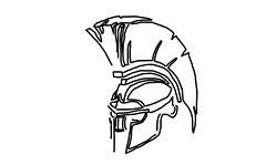 Spartan Helmet Sketch (The Spar7an) Tags: spartan helmet sketch