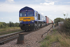 66727 at Ely (tibshelf) Tags: 66727 class66 gbrf ely maritimeone