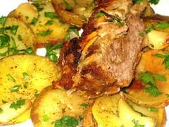 Modern Comfort Food Meatloaf with slow roasted gar