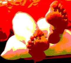 Red hot naked feet art portrait (Sugarbarre2) Tags: show nyc light urban orange woman white black macro green girl up self dark mom fire photo big cool nikon toes bare flash s hose mature short wife granny soles nopanty