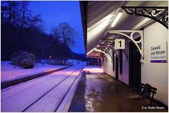 Waiting on a train. (eric robb niven) Tags: station scotland railway dunkeld birnam ericrobbniven