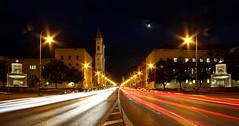 my million village rush hour (werner boehm *) Tags: street munich münchen lighttrails universität feldherrnhalle theatinerkirche schwabing lehel ludwigstrasse ludwigkirche universitätsbrunnen wernerboehm