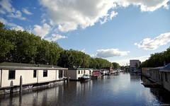 052 (Boray Yurdakul) Tags: blue sky house holland line schiedam