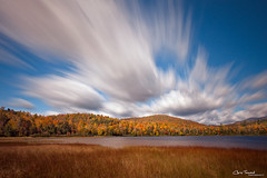 zoom, zoom ([Chris Tennant]) Tags: statepark longexposure autumn trees ny newyork motion fall nature water clouds landscape pond blueline upstate adirondacks foliage le adk 60seconds nd110 5dmkii christennantphotography