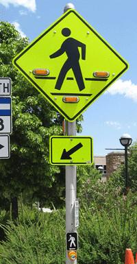 Photo - Flashing Yellow Crosswalk