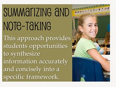 Summarizing and note-taking (Ken Whytock) Tags: school students education learning teaching teachers instruction notetaking strategies summarizing
