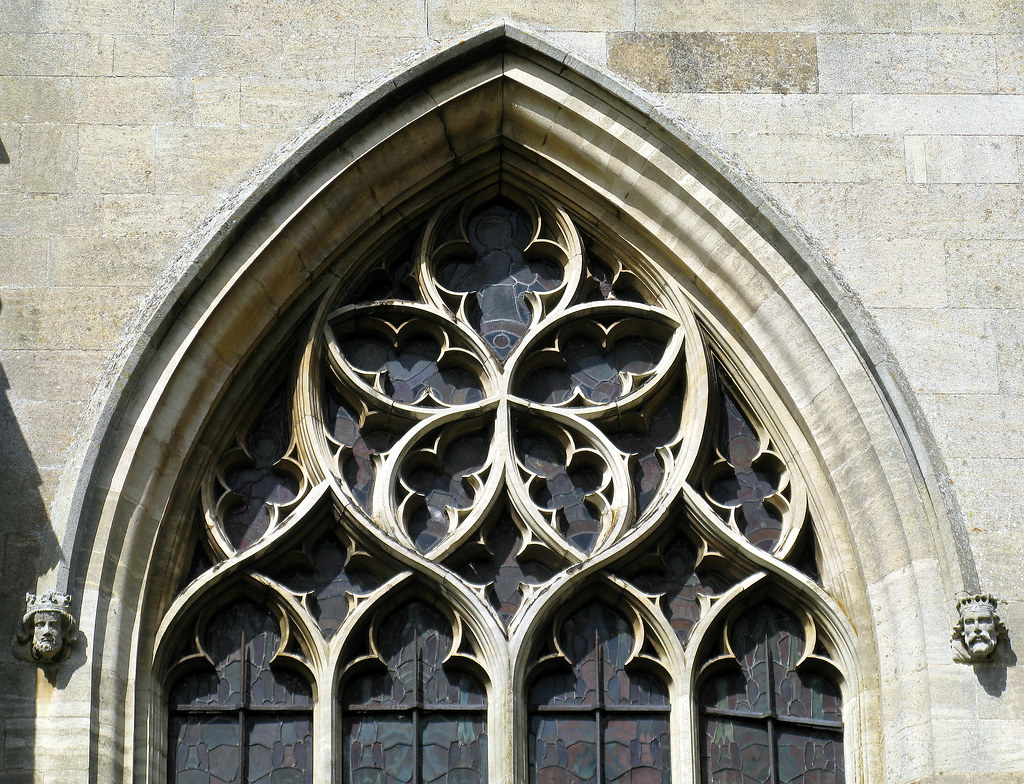 Decorated Gothic Window Tracery 14th C The Church Of St Helen