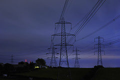 Pylons, Beacon Road, Barr Beacon, Walsall 15/09/2012 (Gary S. Crutchley) Tags: uk travel england black west lines night dark grid evening countryside town birmingham nikon long exposure power nightscape shot nightshot image time britain united country great sigma kingdom apo powerlines national electricity after nightphoto pylons 70300mm townscape beacon staffordshire westmidlands barr dg walsall midlands blackcountry nightimage f456 nightphotograph d700 walsallweb