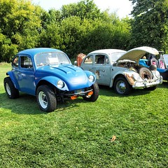 Couple cool Beetles for my wife to check out. :D @borzoi33 (Snapshots by Nixy J Morales) Tags: vw square bugs squareformat normal beetles carshow iphoneography instagramapp uploaded:by=instagram foursquare:venue=4bc9df6ccc8cd13ae84fbccf
