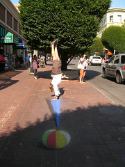 Handstand on a beachball (Stop carbon pollution) Tags: canada bc britishcolumbia victoria vancouverisland hotd handstand