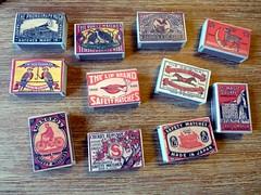Vintage matchboxes (LaWendeltreppe) Tags: vintage matchbox