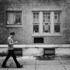 Brick House (Joel Levin Photography) Tags: street urban blackandwhite bw usa philadelphia square candid streetphotography squareformat philly allrightsreserved iphone mobilephotography flickraward iphone4 bwartaward thedefiningtouch thedefiningtouchgroup iphoneography deftouch editedanduploadedoniphone flickrawardgallery ©joellevin definingtouchgroup