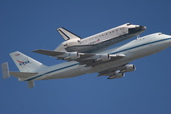 Space Shuttle Endeavor's Last Flight (ericktseng) Tags: usa field by america fly us san francisco space flight nasa shuttle 747 endeavor flyby moffett